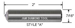 J&M Diamond Dresser Single Point Dresser 7-16 by 2""